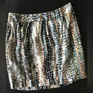 KENNETH COLE Green & Ivory Patterned Skirt